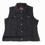 Ladies jeansvest, black