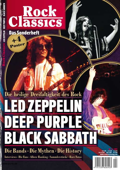 ROCK CLASSICS LED ZEPPELIN BLACK SABBATH DEEP PURPLE
