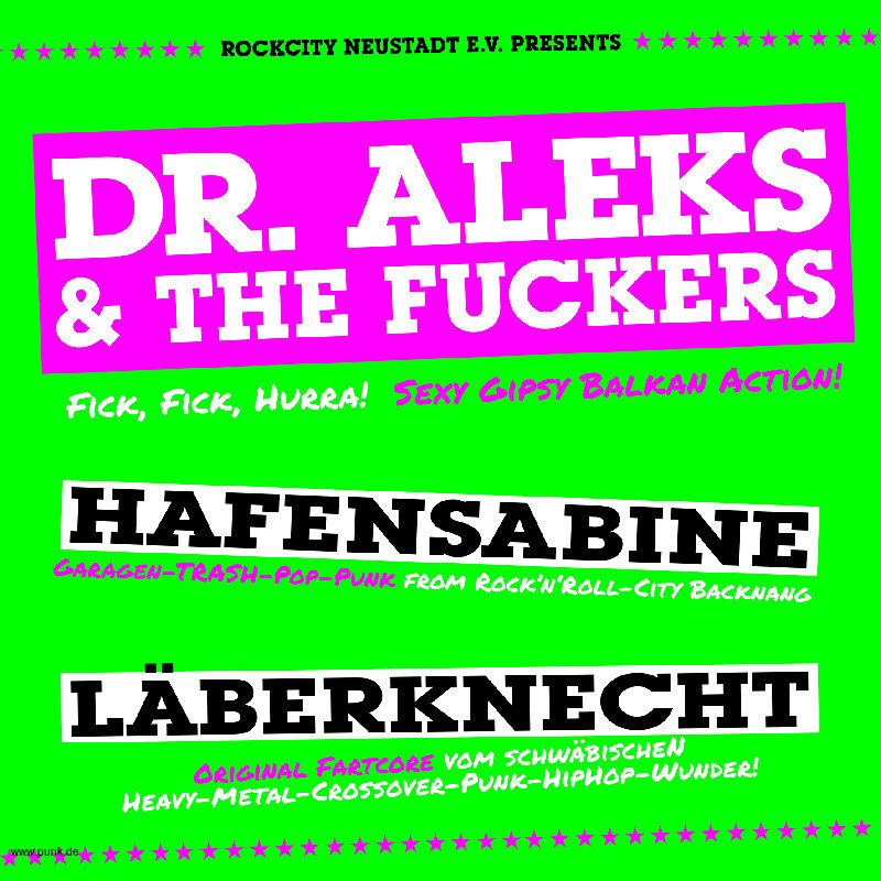 : HardTicket +++ Dr. Aleks & The Fuckers +++